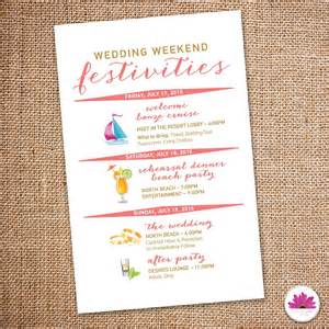 wedding hotel welcome bags destination wedding weekend itinerary wedding day time