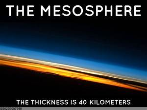 Layers Of The Atmosphere Mesosphere The Presentation By Jacob Orloff