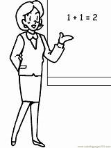 Teacher Coloring Pages Clipart sketch template