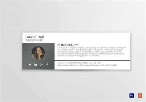 business manager email signature designs examples