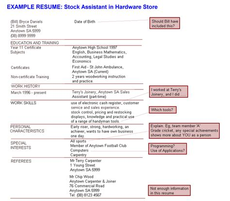 Hardware Store Resume Exle by Resume Exles Stock Assistant In Hardware Store