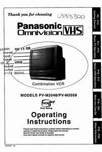 Panasonic Tv  Vcr Or Dvd Combo Manual 98050455