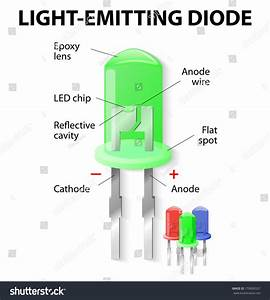 Parts Light Emitting Diode Led Unlike Stock Vector