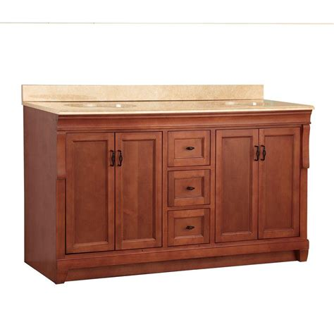 home depot double sink vanity foremost naples 61 in w x 22 in d vanity in warm