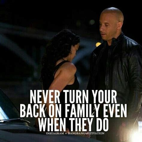 Never Turn Your Back On Family Quotes