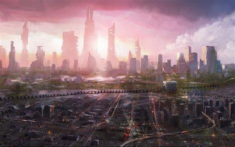 sci fi fond decran dystopique  futuriste page  de