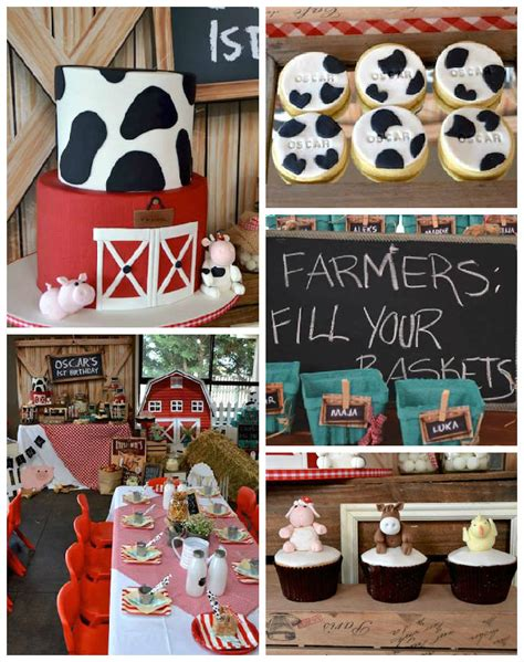birthday party ideas 1st birthday party ideas rustic barnyard 1st birthday party via kara 39 s party ideas
