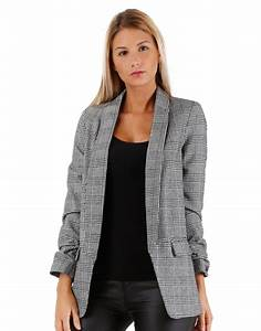 Blazer for Blazer à carreaux femme