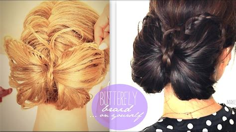 butterfly braid tutorial cute bun holiday hairstyles