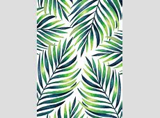 Tropical leaves White pattern Watercolor Patterns