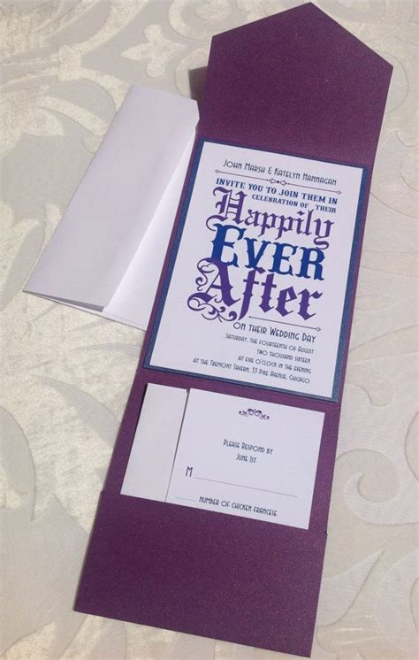 wedding invitation fairy tale wedding