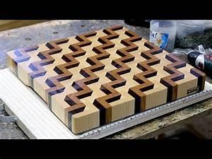 Making a 3D end grain cutting board #3 - YouTube