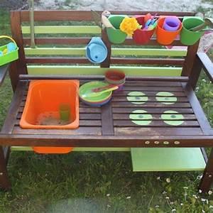 Kinder Gartenbank Holz : wie ich aus einer gartenbank eine matschk che baute outdoor ikea hacks und hacks ~ Whattoseeinmadrid.com Haus und Dekorationen