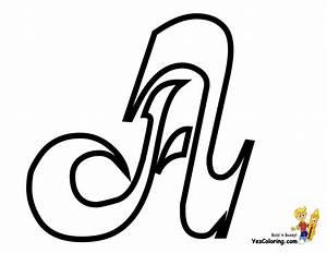 Elegant Cursive Letter Coloring Page   Free   Letter ...