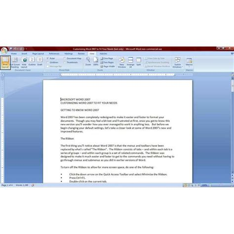 Layout Word by How To View Your Word 2007 Documents For Better Functionality