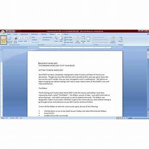 How to view your word 2007 documents for better functionality for View documents printed