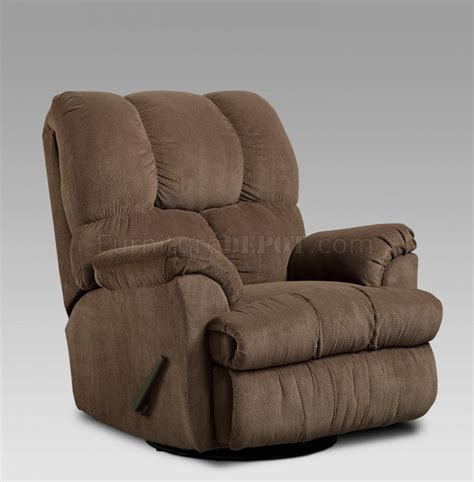 coffee fabric modern swivel rocker recliner