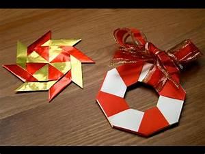 Origami Fleur Coeur D étoile : origami d coration de no l l 39 toile magique senbazuru ~ Melissatoandfro.com Idées de Décoration