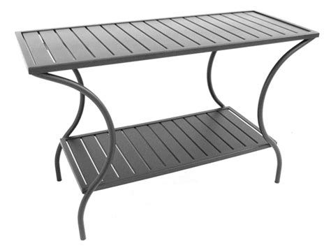 meadowcraft wrought iron 49 25 x 20 rectangular console