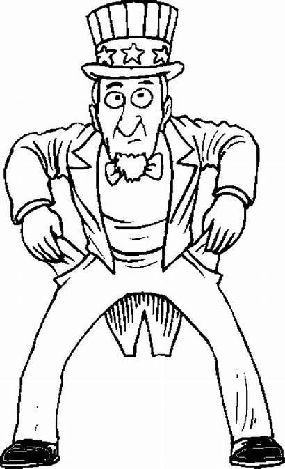 Uncle Sam Government Coloring Pages
