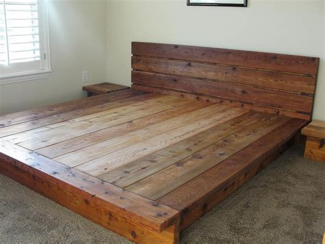 Wooden Bed Platform by King Platform Bed Frames Selections Homesfeed