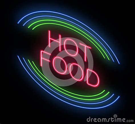 hot food sign stock photo image