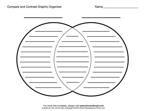 compare and contrast template tim de vall comics printables for