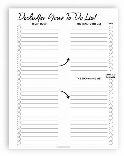 Daily Planner Printable Template Declutter Lists Templates
