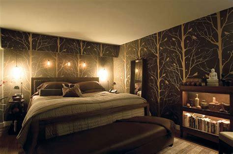 lights  create  warm cosy bedroom