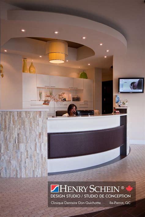 on reception desk dental office