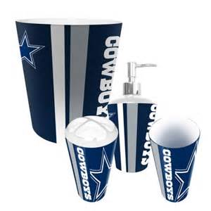 dallas cowboys nfl complete bathroom accessories 4pc set