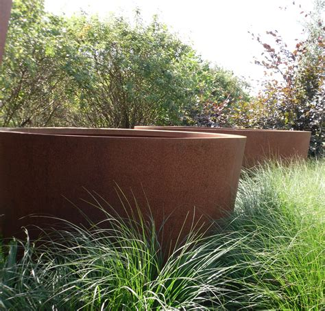 corten steel planters corten steel cone planters from potstore co uk
