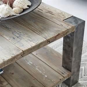Table Basse Bois Et Metal : table basse en bois de pin recycl et m tal 140 vintage ~ Dallasstarsshop.com Idées de Décoration