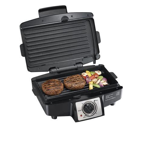 indoor grill hamilton beach indoor grills 110 sq in indoor grill black 25332 shopyourway