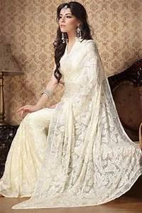 white lace saree | wedding galore | Pinterest | Lace saree ...