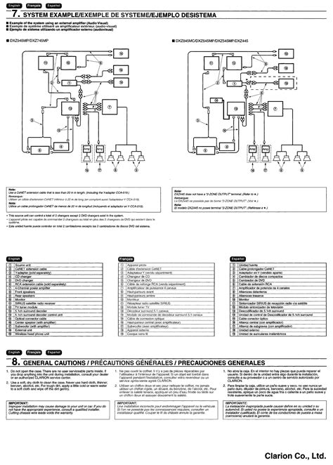 clarion car stereo wiring diagram 33 wiring diagram