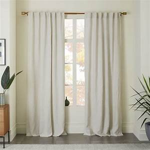 Belgian Flax Linen Curtain - Natural west elm