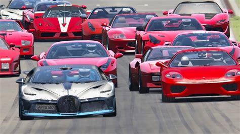 Forza horizon 4 drag race: Bugatti Divo vs All Ferrari Supercars - Spa - YouTube