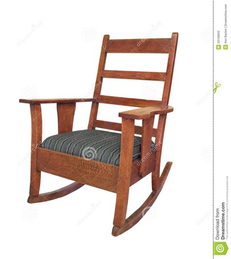 antique wooden rocking chair isolated stock photos image