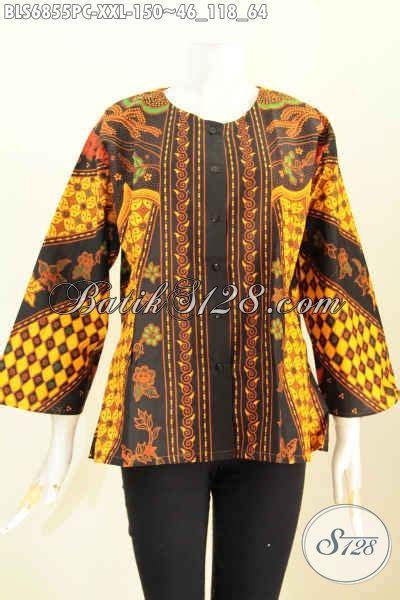 baju batik jumbo blus batik wanita pegawai bank