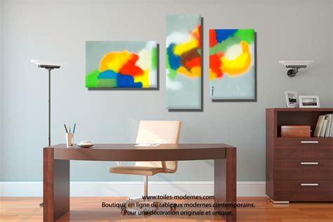 canapé moderne design tableau triptyque déco murale design panoramique pour