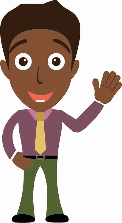 Cartoon Hello Clipart Person Clip African Saying