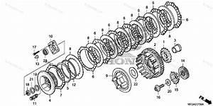 Honda Motorcycle 2009 Oem Parts Diagram For Clutch