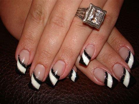 60 Glitter Nail Art Designs Art And Design 60 Latest Black And White Nail Art Design Ideas