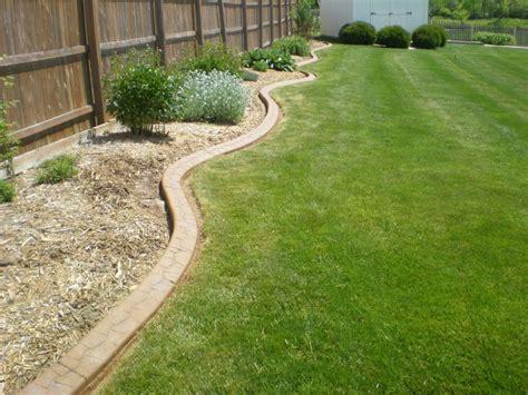 concrete landscape edging custom lawn edging 545 lawn care inc