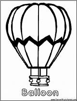 Balloon Coloring Air Balloons Pages Printable Basket Clip Drawing Template Clipart Ballon Clipartpanda Sheets Transportation Colors Terms Getcoloringpages Preschool Projects sketch template