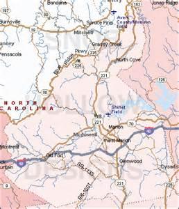 McDowell County North Carolina Map