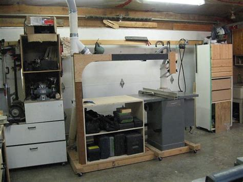 setting   small garage shop  table  advice