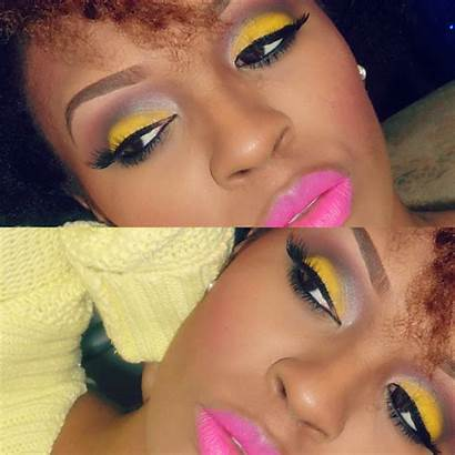 Makeup Yellow Eye Bold Colorful Looks Lashes