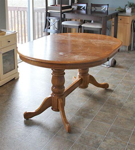 Hometalk   DIY: Refinish an Old Oak Table